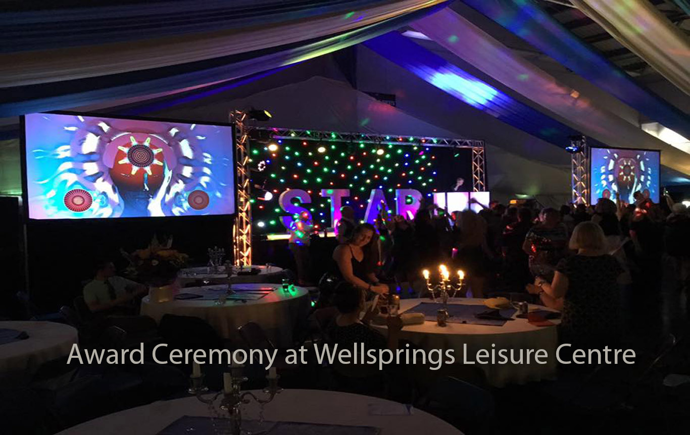 Award Ceremony at Wellsprings Leisure Centre Taunton