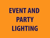 Examples of our Event and Party Lighting