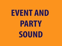 Examples of our Event and Party Sound Equipment for hire